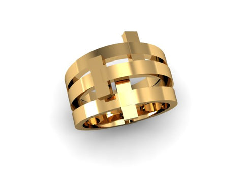 CA 18Karat Yellow Gold Trinity Ring