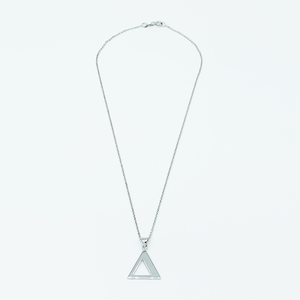 CA Triangle Unity Necklace Pendant (Silver-Rhodium white gold plated)