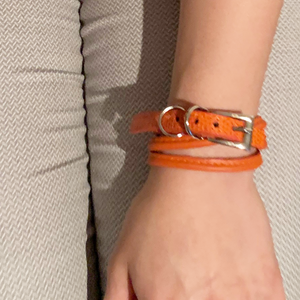 CA Amazon Mandarin Lizard Wrap Buckle Bracelet
