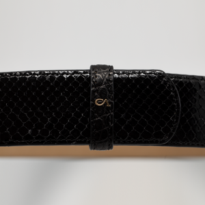 CA Hampton Black Python Couture waist belt