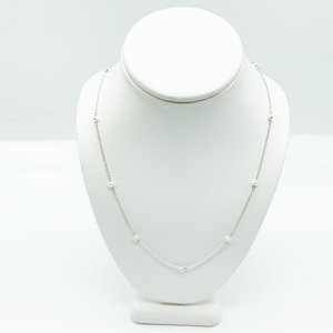 CA Christopher Augmon Nine (Inspired) Akoya Pearl Silver Necklace