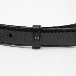 CA Amazon Black Alligator and Black Python Couture Waist Belt
