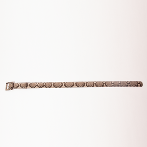CA Hampton Natural Python Couture waist belt