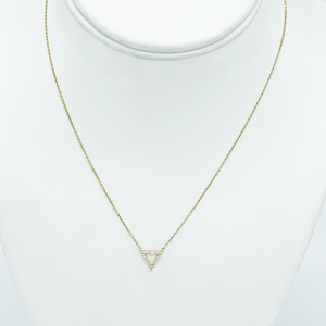 CA - Melissa 18 Karat Gold Diamond Triangle Pendant Necklace
