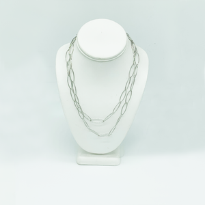 CA Rhodium Big Chain Necklace