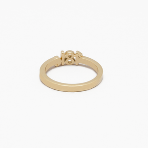"CA ""18K"" logo 18 Karat Yellow Gold Ring"