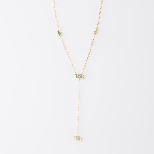 "CA ""18K"" logo 18 Karat Yellow Gold Y - Necklace"
