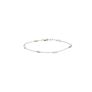 "CA ""CA and 18K"" logo 18 Karat White Gold Bracelet"