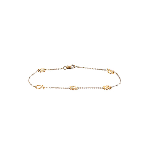 "CA ""18K and CA"" 18 Karat White and Yellow Gold Bracelet"