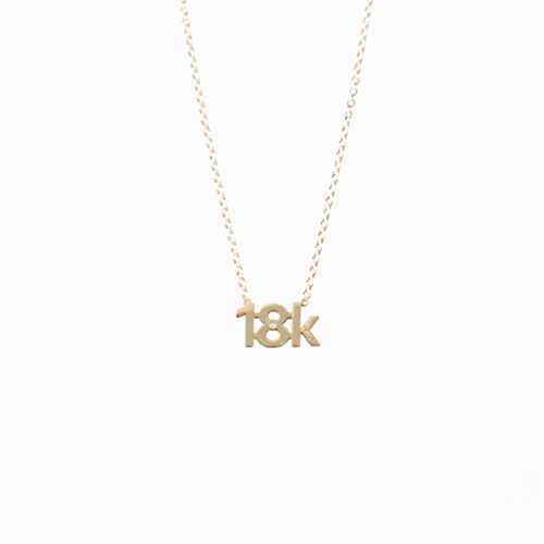 "CA ""18K"" logo 18 Karat Yellow Gold and Diamond Pendant"