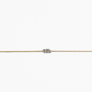 "CA ""18K"" logo 18 Karat Yellow Gold Chain / White Gold ""18K"" Bracelet"