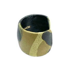 CA Amazon Green Leather Camouflage Cuff