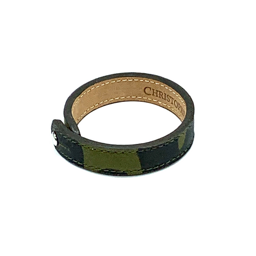 Christopher Augmon Amazon Green Camouflage Single Collar Button Bracelet