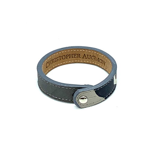 Christopher Augmon Amazon Grey Camouflage Single Collar Button Bracelet