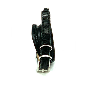 Christopher Augmon Amazon Black Alligator Wrap Buckle Bracelet