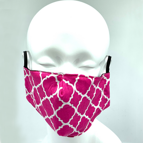 Christopher Augmon CA Fuchsia Ornamental Mask (any 4 100% cotton mask for $100; specify type in special instruction)