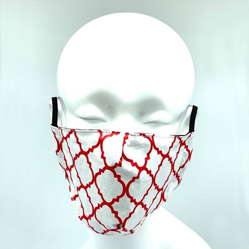 Christopher Augmon CA Red Ornamental Mask (any 4 100% cotton mask for $100; specify type in special instruction)