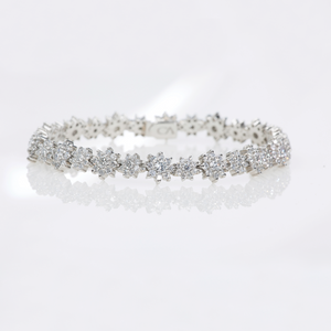 "CA Platinum and Diamond ""Sun Flower"" Bracelet"
