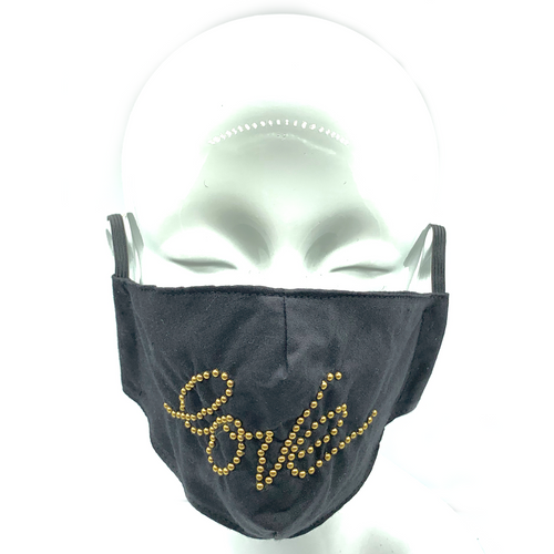 CA Signature Gold Stud Love Mask $250