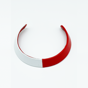 Christopher Augmon Amazon Red and White Lamb Skin Choker
