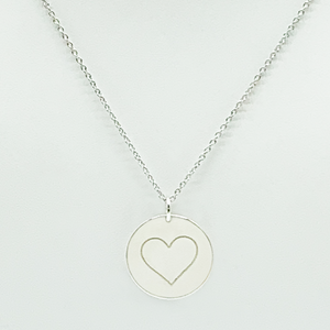 CA Love Always Heart Pendant (Rhodium White Gold Plated)