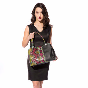 CA Custom Myla Python-Italian Leather Hand  Bag