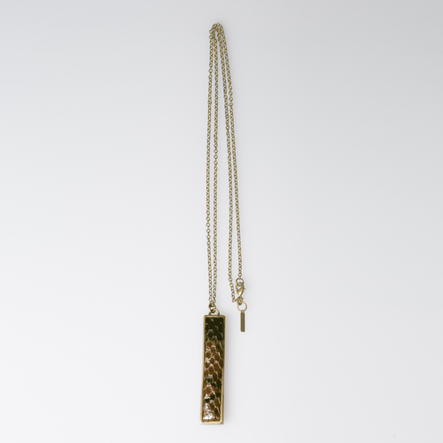 Christopher Augmon Amazon Brown Python T Bar Necklace