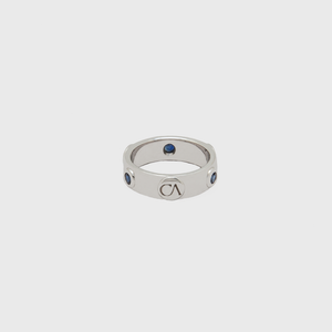 "CA 18 Karat ""Gold Coast"" 18 Karat White Gold and Sapphire Ring"
