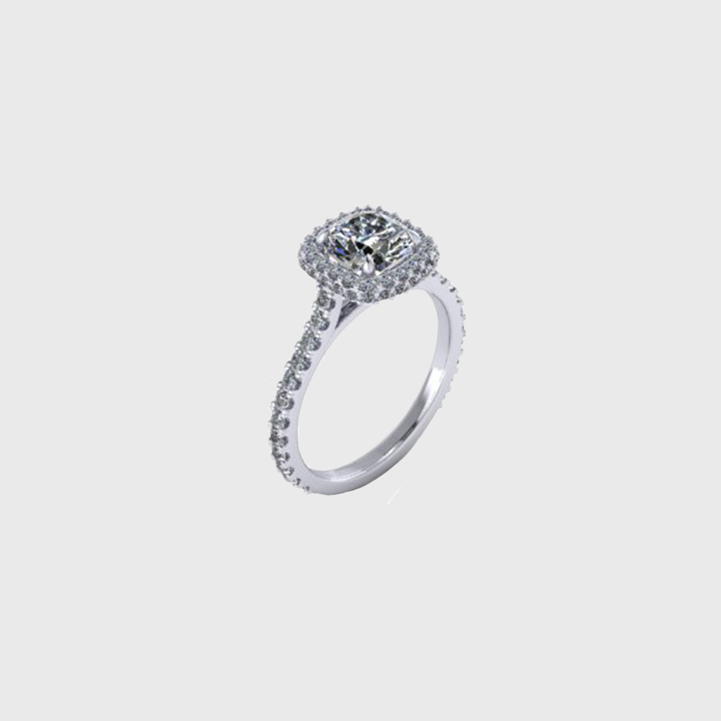 products custom band and diamond ring platinum engagement double cushion halo rings bands ca
