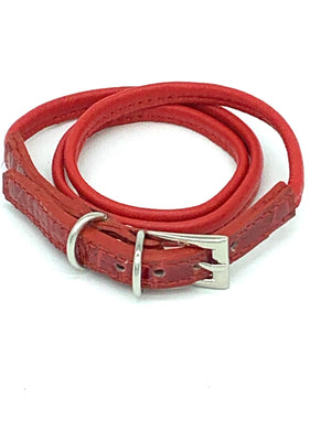 CA Amazon Red Alligator Buckle Wrap