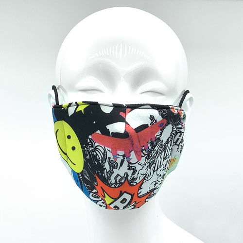 Christopher Augmon CA Comic Mask (any 4 100% cotton mask for $100; specify type in special instruction)