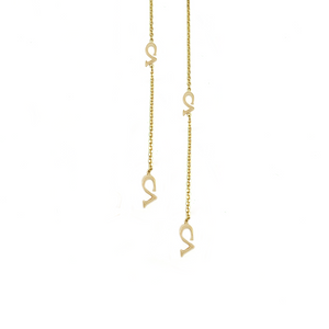 CA-18Karat Yellow Gold CA Logo Chandelier Earrings