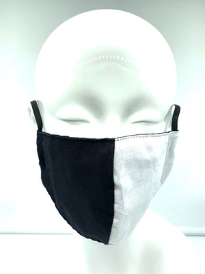 Christopher Augmon CA Equality Black and White Mask (any 4 100% cotton mask for $100; specify type in special instruction)