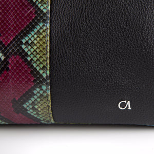 CA Custom Myla Python-Italian Leather Handbag