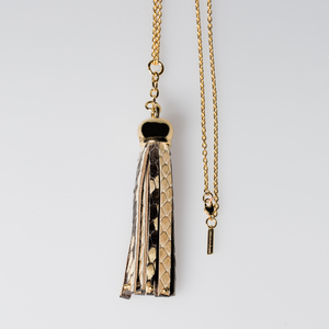 Christopher Augmon Natural Python Congo Tassel Necklace