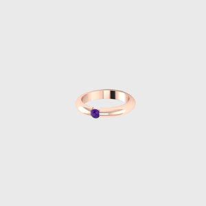 CA Rose 14K Gold Tension Amethyst Ring