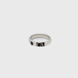 "CA ""CA"" 18 Karat ""Gold Coast"" White Gold and Black Diamond Ring"