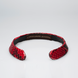 Christopher Augmon Zambezi Red/Black Natural Python Choker