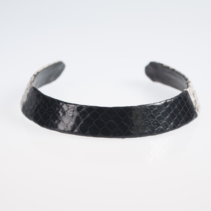 Christopher Augmon Zambezi  Black Natural Color Block Python Choker