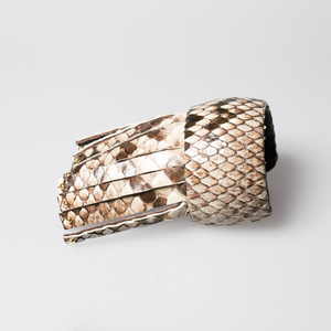 Christopher Augmon Amazon Natural Gold Studded Fringe Python Cuff