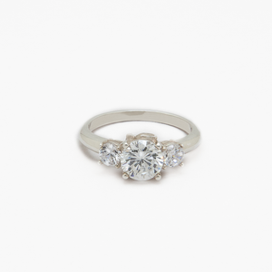 "CA 18 Karat ""Triple Diamond"" Engagement Ring"