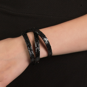 Christopher Augmon Amazon Black Python Wrist Wrap