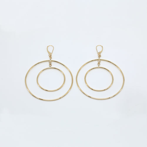 CA 18 Karat Yellow, White, Rose Double Halo earrings (They move without you moving)