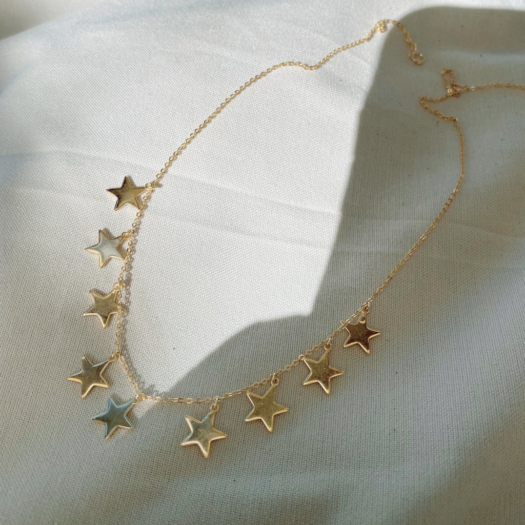 Star Charm Dangles Necklace