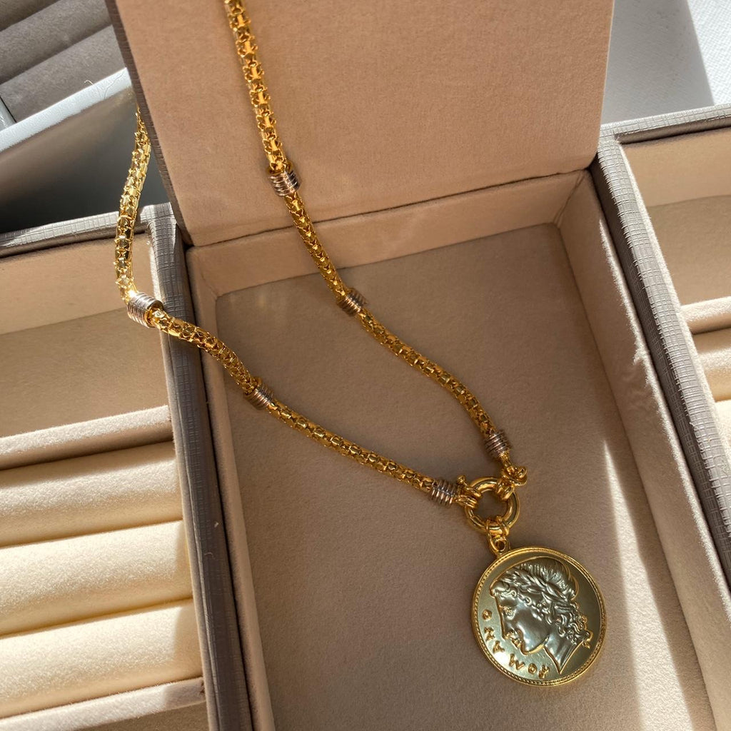 Other stories necklace coin