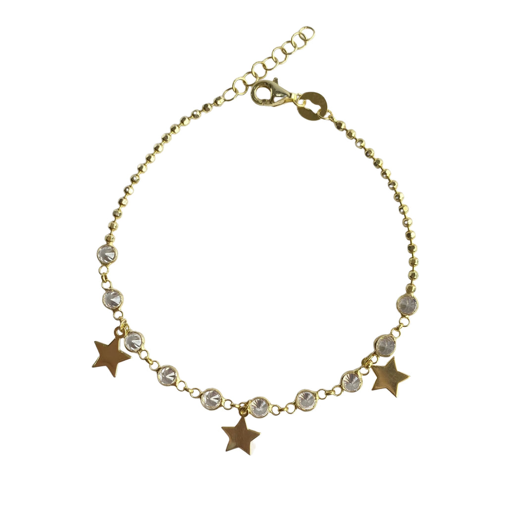 Star diamond cut bracelet
