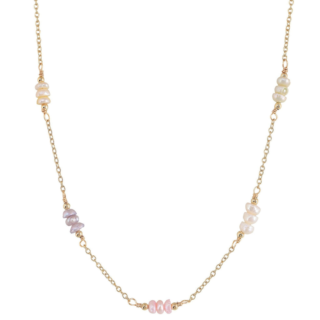 'OASIS' MINI COLORED PEARLS NECKLACE