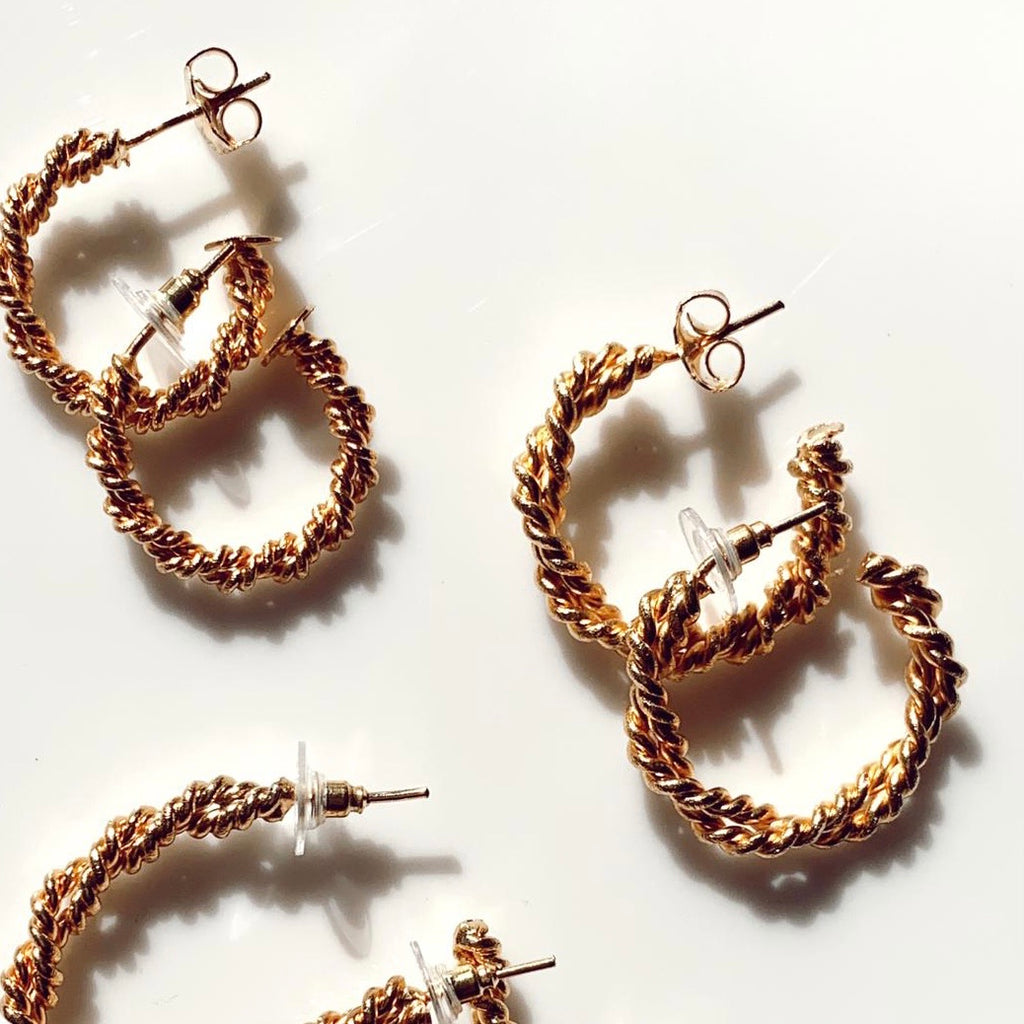 Iny Twisted Hoops