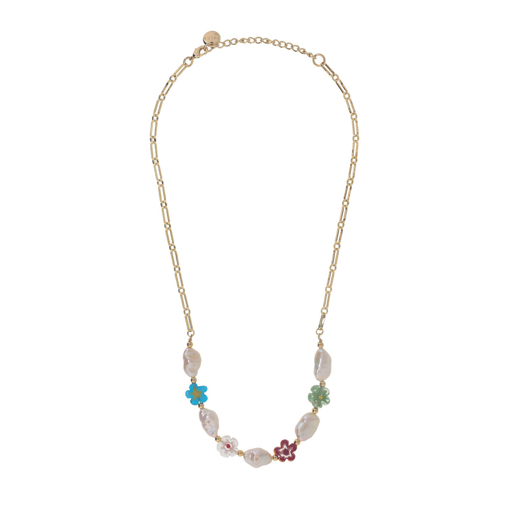 'CALA' PEARLS & MILLEFIORI NECKLACE