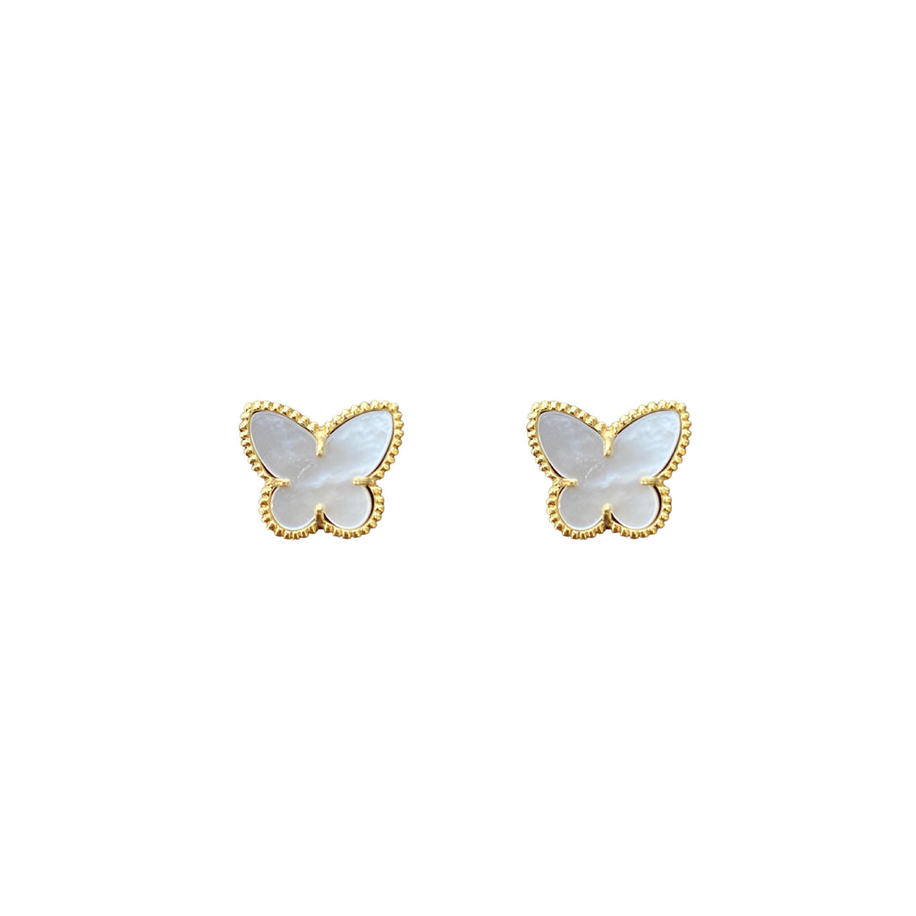 Nacar Butterfly stud